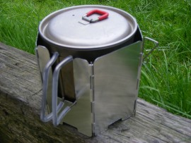 Combined Windscreen and Pot Rest for MSR Titan Kettle