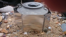 Custom combined windscreen and pot rest built for your own pot